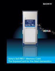 Sony's SxS PRO™ Memory Card The ExpressCard for the ... - AVD