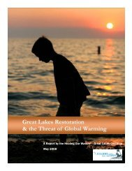 Great Lakes Restoration and the Threat of Global Warming
