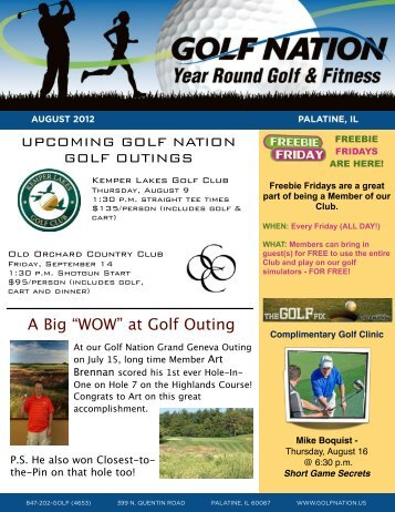August 2012 - Golf Nation