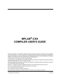 MPLAB XC8 C Compiler User's Guide - Microchip