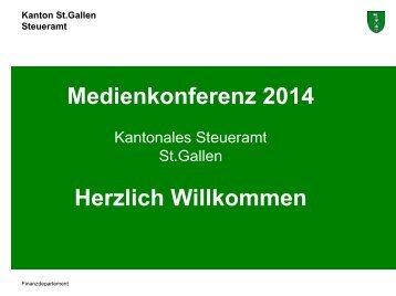 Medienkonferenz 2013 Präsentation (953 kB, PDF) - Steuern St ...