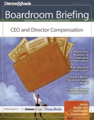 CEO and Director Compensation 2010 - Directors & Boards