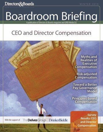 CEO and Director Compensation 2010 - Directors & Boards