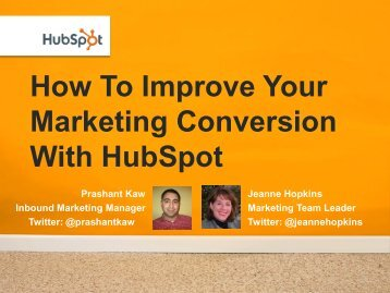 How To Improve Your Marketing Conversion With HubSpot