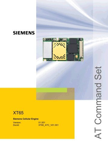 XT65 AT Command Set - GSE