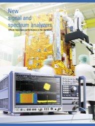 New R&S®FSW signal an spectrum analyzers - Rohde & Schwarz