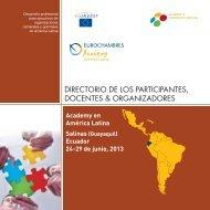 directorio de los participantes, docentes & organizadores