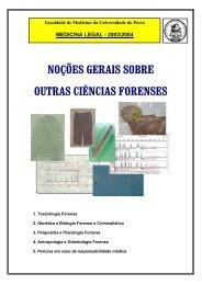 noções gerais sobre outras ciências forenses - Plano de estudos do ...