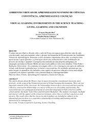 ambientes virtuais de aprendizagem no ensino de ciências