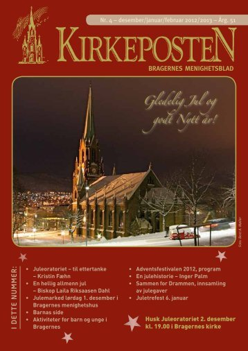 Nr. 4 desember-februar 2013 - Den norske kirke i Drammen