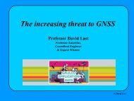 GNSS Vulnerability - Galileo Application Days 2010
