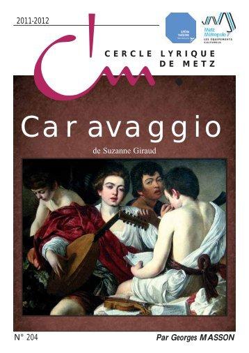 Caravaggio - cercle lyrique de metz