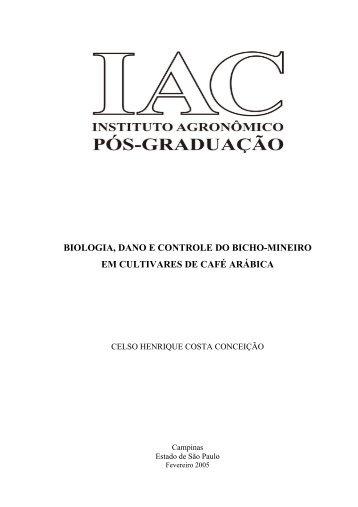 biologia, dano e controle do bicho-mineiro em cultivares de ... - IAC