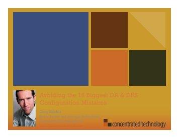 Avoiding 16 Configuration Mistakes that'll Kill your Virtual Environment