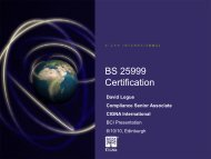 CIGNA: BCM and BS25999 Certification - BSI Shop