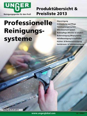 Professionelle Reinigungs- systeme - Unger