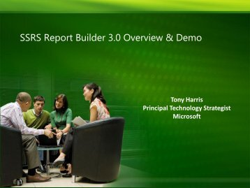 SSRS Report Builder 3.0 Overview & Demo - Interface Tech Blog