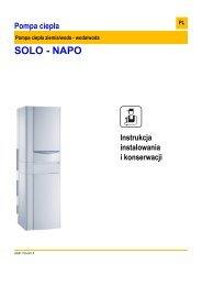 Instrukcja techniczna SOLO, NAPO - De Dietrich