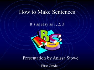 How to Make Sentences - RPCS