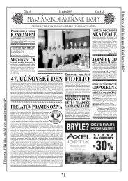 FIDELIO - Mariánskolázeňské listy