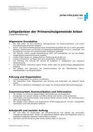 Leitgedanken der Primarschulgemeinde Arbon - Psgarbon.ch
