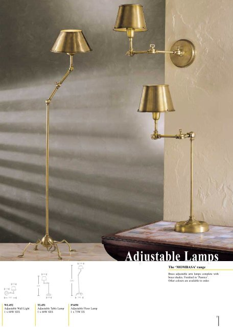 Adjustable Lamps Adjustable Lamps