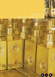 relief valves valvole di massima pressione - Total Hydraulics BV