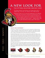a new look for the ottawa senators hockey club