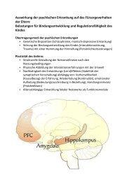 Auswirkung der psychischen Erkrankung auf das Fürsorgeverhalten ...
