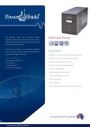 PowerShield Defender UPS Brochure