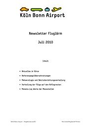 Newsletter Fluglärm Juli 2010