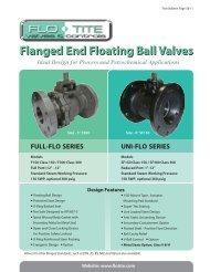 Flanged End Floating Ball Valves - Temp-Press Inc