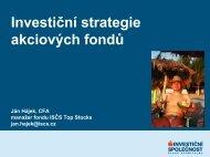 Prezentace Investiční strategie akciových fondů