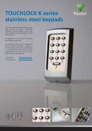 TOUCHLOCK K series stainless steel keypads