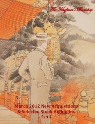 March 2012 New Acquisitions - The Wayfarer's Bookshop