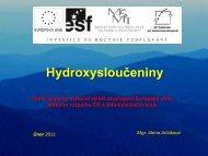 Hydroxysloučeniny