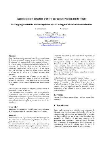 Segmentation et détection d'objets par caractérisation multi-échelle