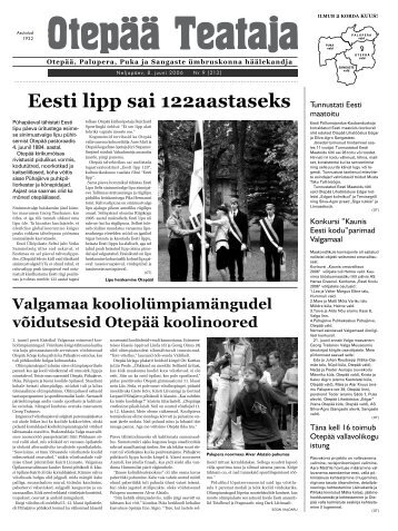 Eesti lipp sai 122aastaseks - Otepää vald