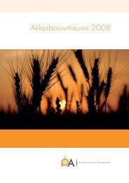 brochure Akkerbouwnieuws 2008 - Productschap Akkerbouw