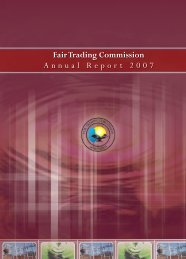 Fair Trading Commission Annual Report 2007