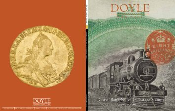 Coins, Bank Notes & Postage Stamps Coins, Bank ... - Doyle New York