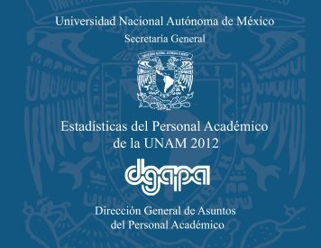 Estadísticas del Personal Académico de la UNAM 2012