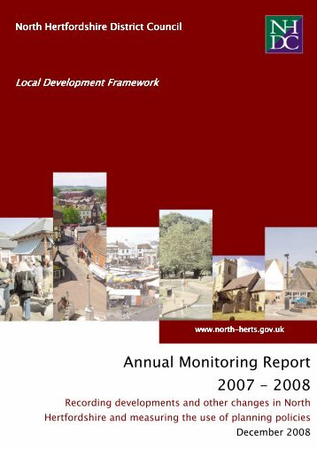 Annual Monitoring Report 2007-2008 - North Hertfordshire District ...