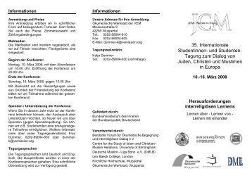 35. Internationale Studentinnen- und Studenten- Tagung zum ...