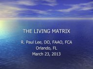THE LIVING MATRIX - American Academy of Osteopathy