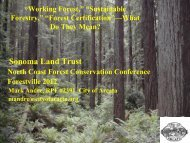 Forest Stewardship Council (FSC) - Sonoma Land Trust