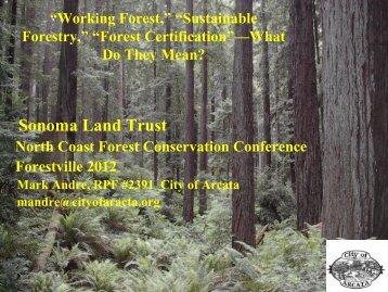 Forest Stewardship Council (FSC) - Sonoma Land Trust