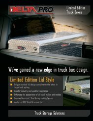 We've gained a new edge in truck box design. Limited ... - Delta