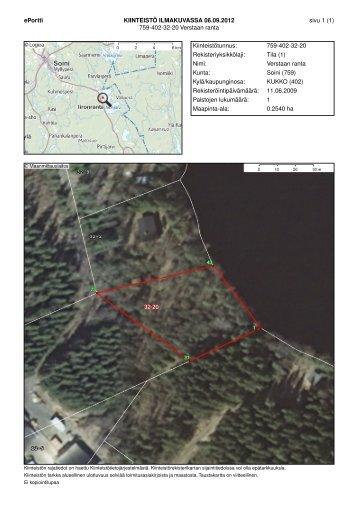 Kuvat rakennuksesta ja kartat.(pdf)