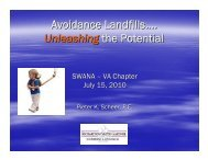 Avoidance Landfills…. Unleashing the Potential - Smith Gardner, Inc
